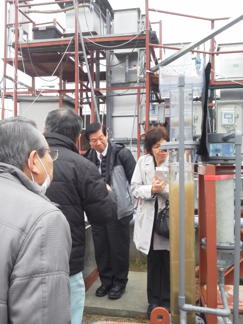大阪広域水道企業団の三島浄水場(摂津市)を視察